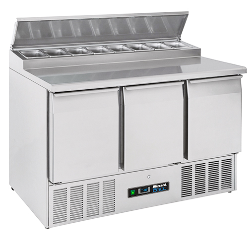 Blizzard Bcc3en Compact 3 Door Gastronorm Counter With