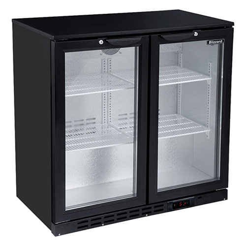 Blizzard BAR2 Double Door Back Bar Bottle Cooler